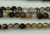 CAG5106 15.5 inches 6mm faceted round line agate beads wholesale