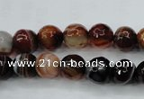 CAG5113 15.5 inches 10mm faceted round line agate beads wholesale