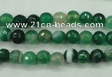 CAG5121 15.5 inches 6mm faceted round line agate beads wholesale