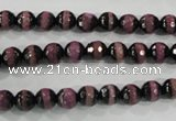 CAG5138 15 inches 6mm faceted round tibetan agate beads wholesale