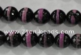 CAG5149 15 inches 10mm faceted round tibetan agate beads wholesale