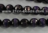 CAG5150 15 inches 10mm faceted round tibetan agate beads wholesale