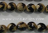 CAG5160 15 inches 10mm faceted round tibetan agate beads wholesale