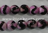 CAG5162 15 inches 10mm faceted round tibetan agate beads wholesale