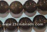 CAG5245 15.5 inches 16mm round Brazilian grey agate beads wholesale