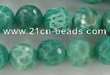 CAG5311 15.5 inches 8mm faceted round peafowl agate gemstone beads