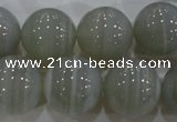 CAG5326 15.5 inches 18mm round grey line agate beads wholesale