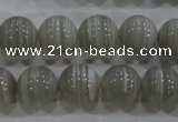 CAG5328 15.5 inches 10mm round grey line agate beads wholesale