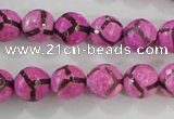 CAG5348 15.5 inches 10mm faceted round tibetan agate beads wholesale