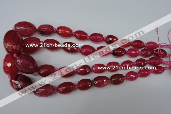 CAG5404 10*14mm – 20*30mm faceted drum dragon veins agate beads