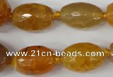 CAG5406 10*14mm – 20*30mm faceted drum dragon veins agate beads
