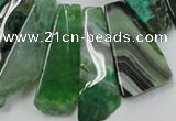 CAG5456 15.5 inches 14*28mm - 16*60mm freeform agate gemstone beads