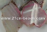 CAG5471 15.5 inches 16*22mm - 40*45mm freeform agate gemstone beads