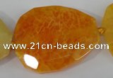 CAG5486 15.5 inches 30*35mm – 35*40mm faceted freeform agate beads