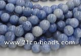 CAG550 16 inches 4mm round blue agate gemstone beads wholesale