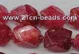CAG5508 15.5 inches 15*15*20mm faceted nuggets agate beads