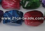 CAG5513 15.5 inches 16*17*22mm faceted nuggets agate beads