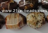 CAG5518 15.5 inches 20*22mm faceted nuggets agate gemstone beads