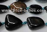CAG5529 15.5 inches 14*18mm - 22*32mm nuggets agate gemstone beads