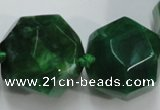 CAG5593 15 inches 10*12mm - 25*27mm faceted nuggets agate beads