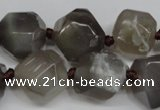 CAG5614 15 inches 18mm faceted nuggets agate gemstone beads