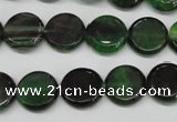 CAG5625 15 inches 12mm flat round dragon veins agate beads