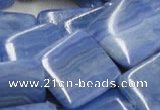 CAG563 16 inches 30*30mm square blue agate gemstone beads wholesale