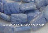 CAG564 16 inches 13*18mm rectangle blue agate beads wholesale