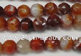 CAG5675 15 inches 6mm faceted round fire crackle agate beads