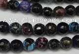 CAG5694 15 inches 8mm faceted round fire crackle agate beads