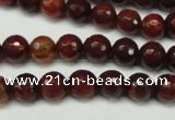 CAG5699 15 inches 8mm faceted round fire crackle agate beads