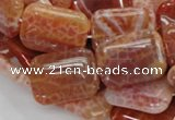 CAG570 15.5 inches 22*30mm rectangle natural fire agate beads