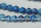 CAG5703 15 inches 8mm faceted round fire crackle agate beads