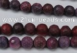 CAG5704 15 inches 8mm faceted round fire crackle agate beads