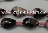 CAG5721 15 inches 12*16mm faceted teardrop fire crackle agate beads