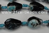 CAG5723 15 inches 12*16mm faceted teardrop fire crackle agate beads