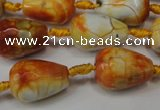 CAG5726 15 inches 13*18mm faceted teardrop fire crackle agate beads