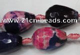 CAG5742 15 inches 15*20mm faceted teardrop fire crackle agate beads