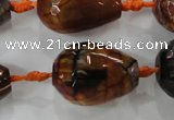 CAG5748 15 inches 18*25mm faceted teardrop fire crackle agate beads
