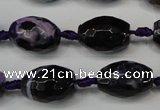 CAG5782 15 inches 12*16mm faceted rice fire crackle agate beads