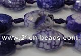 CAG5793 15 inches 13*18mm faceted rice fire crackle agate beads