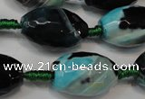 CAG5801 15 inches 15*20mm faceted rice fire crackle agate beads