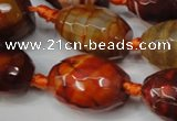 CAG5802 15 inches 15*20mm faceted rice fire crackle agate beads