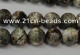 CAG5815 15 inches 10mm faceted round fire crackle agate beads