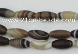 CAG5910 15 inches 5*12mm rice Madagascar agate gemstone beads