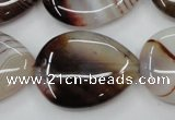 CAG5924 15 inches 22*30mm flat teardrop Madagascar agate gemstone beads