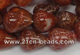 CAG595 15.5 inches 15*20mm teardrop natural fire agate beads
