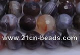 CAG5961 15.5 inches 8mm faceted round botswana agate beads wholesale