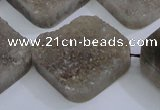 CAG5989 15.5 inches 25*25mm diamond grey agate gemstone beads