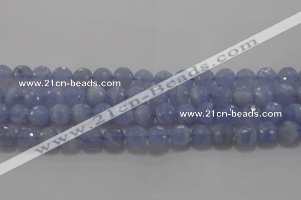 CAG5998 15.5 inches 10mm faceted round blue lace agate beads